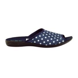 Ciabatte con puntini in cotone blu Adanex