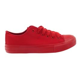 DK Scarpe da ginnastica legate rosse rosso