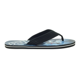 American Club nero Pantofole americane da uomo SURF