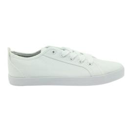 American Club Scarpe da ginnastica bianche da donna con sneakers americane bianco