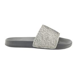 Pantofole profilate Big Star glitter grigio