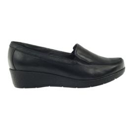 Nero Angello 1720 mocassini scarpe nere