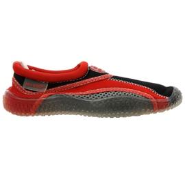 Aqua-Speed Jr. scarpe da spiaggia in neoprene rosso-grigio
