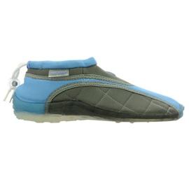 Scarpe da spiaggia in neoprene Aqua-Speed Jr. blu-grigio