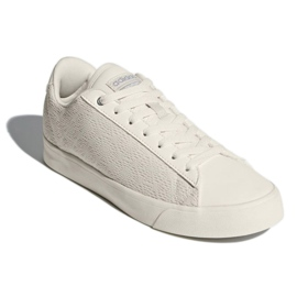 Bianco Adidas Sport Inspired Cloudfoam Daily Qt Clean Shoes In DB1738