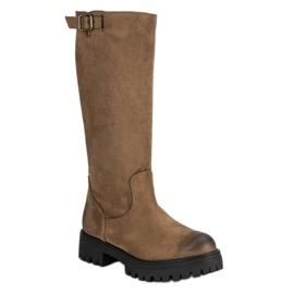 Corina marrone Stivali di camoscio