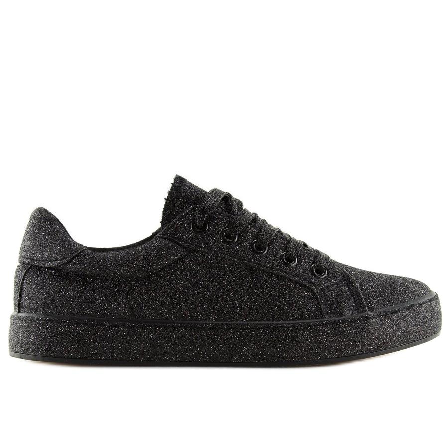 Nero-Sneakers-nere-iridescenti-BL142-nere