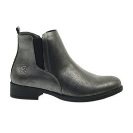 Stivali argento antico Sergio Leone 553 grigio