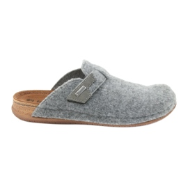 Pantofole in feltro di fissaggio Inblu TH014 grigio