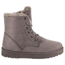 Forever Folie grigio Calde scarpe in pelle scamosciata
