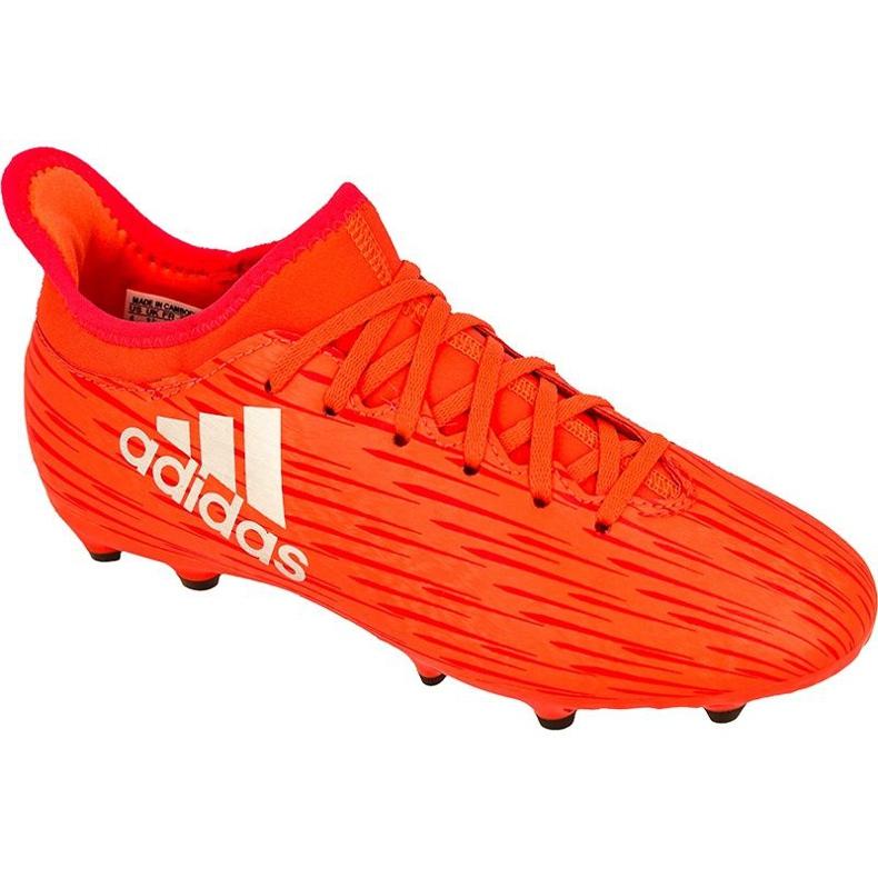 Scarpe da calcio adidas X 16.3 Fg Jr S79489 rosso rosso