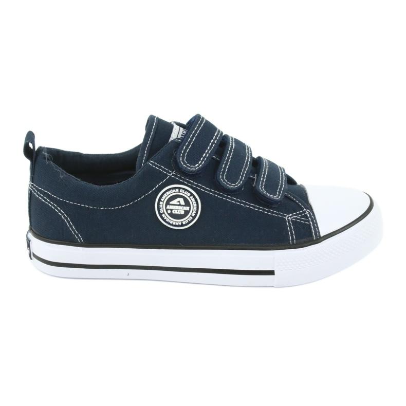 American Club Sneaker per bambini americani con velcro LH33 bianco marina