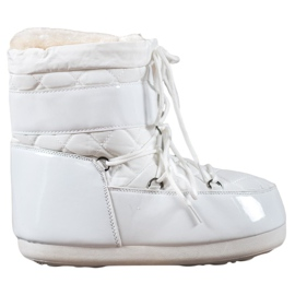 Bianco Stivali da neve alla moda
