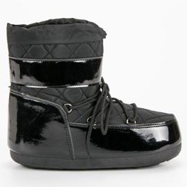 Nero Stivali da neve alla moda