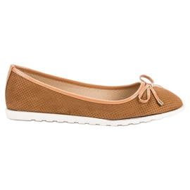 Small Swan Camel Ballerinas marrone