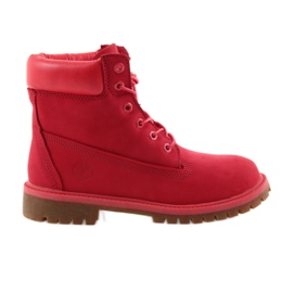 Rosso Timberland 6 INCH PREMIUM IMPERMEABILE