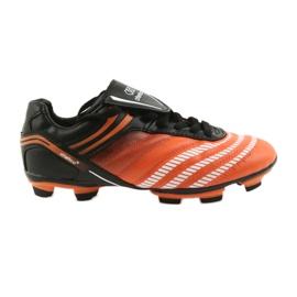 Scarpe da calcio di Atletico 1216 nero, arancione arancione