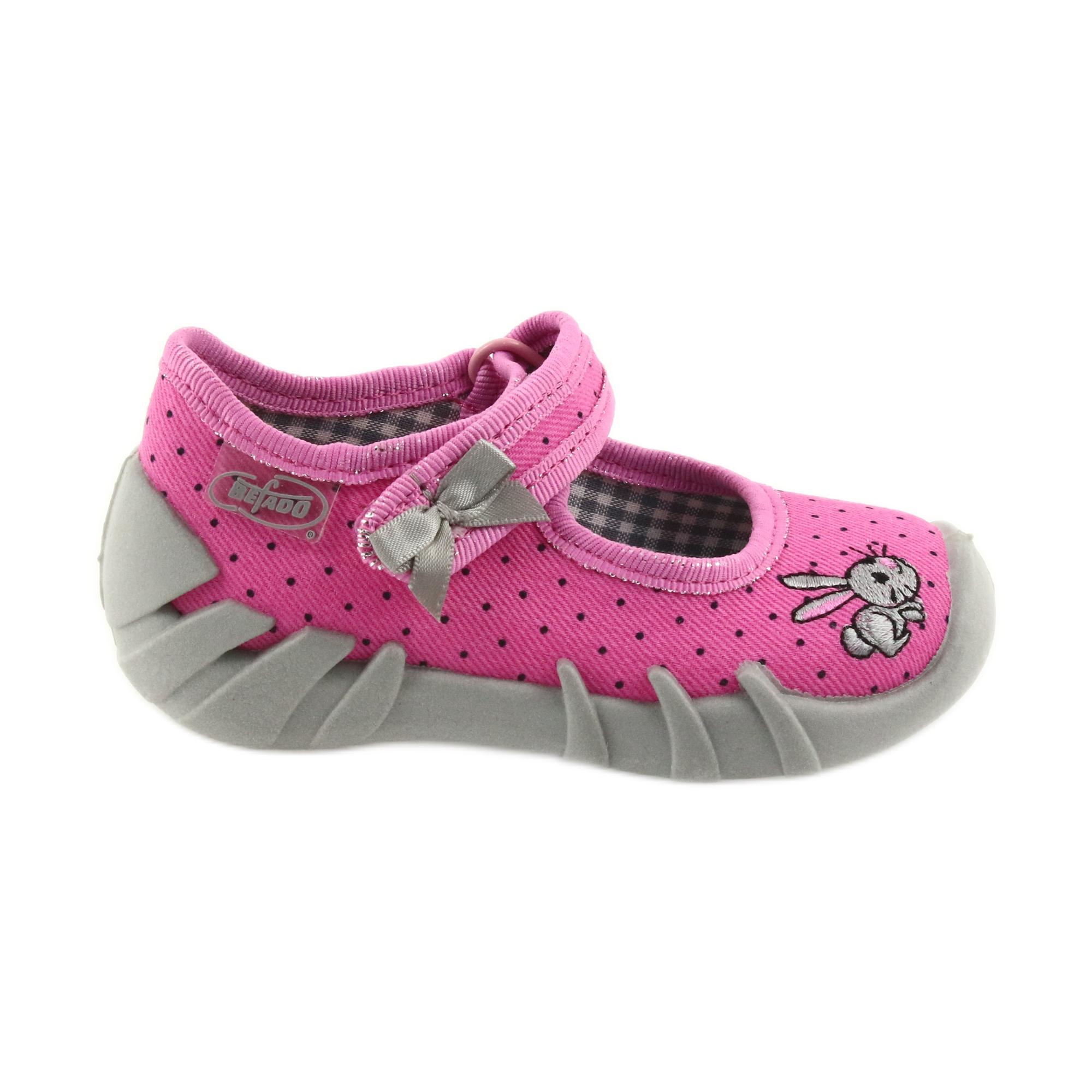 Pantofole da ballerina Befado per bambini 109P169 nero grigio rosa