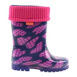 Demar stivali di gomma per bambini caldi calzini cuori