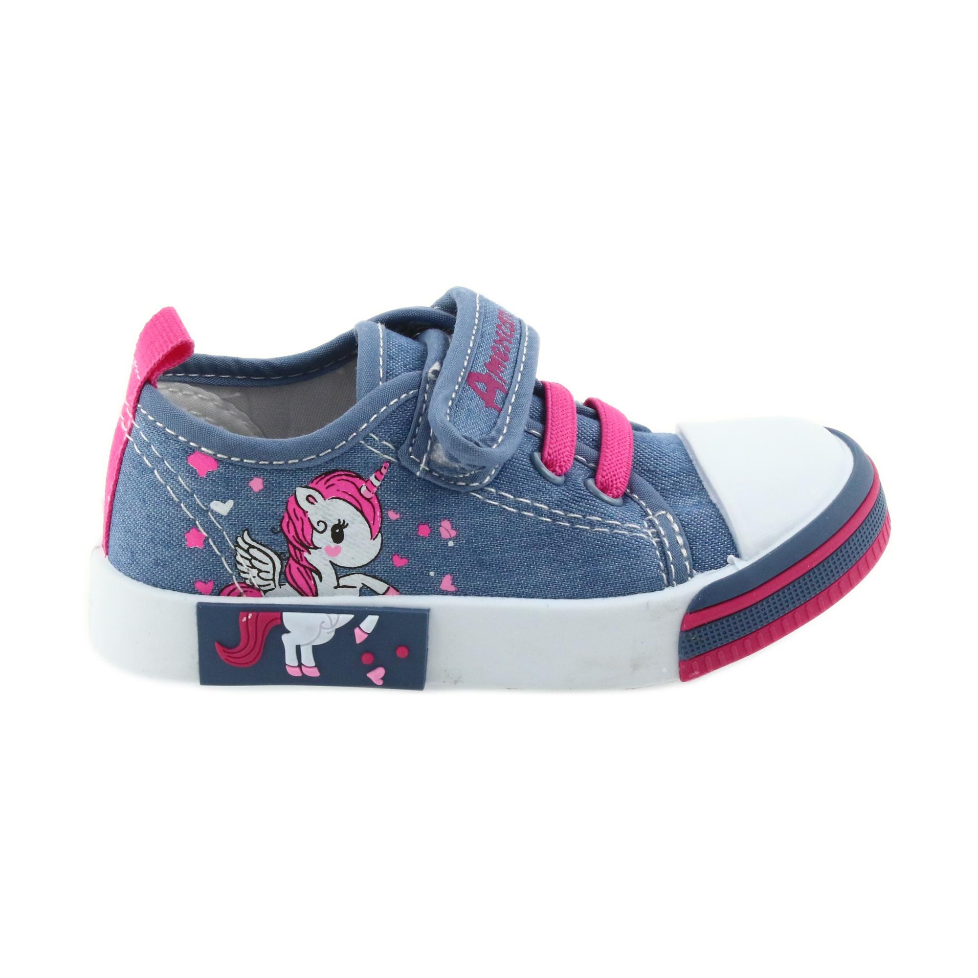 buy popular 90a07 d6560 American Club Scarpe da ginnastica americane per bambini con pelle  intarsiata in velcro
