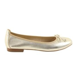 Giallo Caprice ballerine oro scarpe per donna 22102