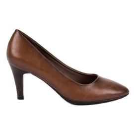 Vinceza Pompe classiche marroni marrone