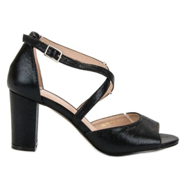 Sandali neri sul Post UP di VINCEZA nero