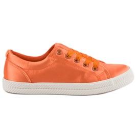 Kylie Sneakers in raso arancione
