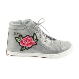 Ren But grigio Scarpe da scarpe da ragazza argento Ren Ma 4279