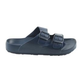 Pantofole da uomo screziato blu navy Atletico marina