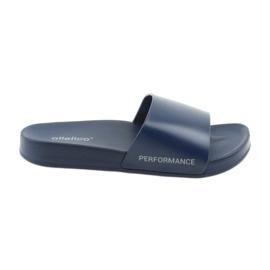 Marina Pantofole da uomo screziato blu navy Atletico