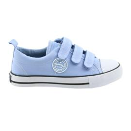 Scarpe da ginnastica per bambini sneakers per bambini American Club blu LH49