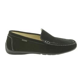 Mocassini scarpe da uomo in pelle American Club 01/2019 nero
