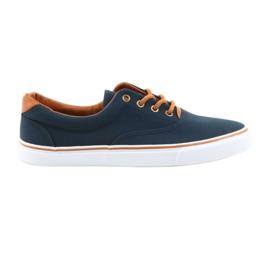 American Club Sneakers da uomo blu navy con motivo LH03