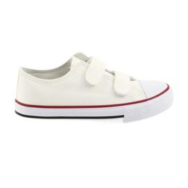 Atletico bianco Sneakers in velcro