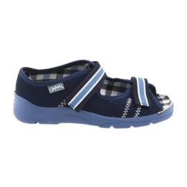 Sandali scarpe bambini Velcro Befado 969x101 blu scuro