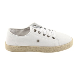Ballerine espadrillas scarpe da donna bianche Big star 274423 bianco