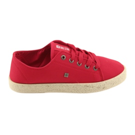 Ballerine espadrillas scarpe da donna rosse Big star 274424 rosso