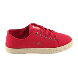 Rosso Ballerine espadrillas scarpe da donna rosse Big star 274424