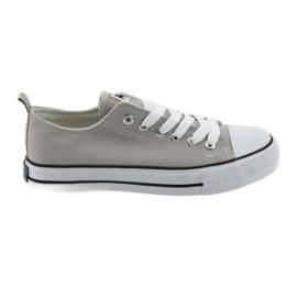 Scarpe da ginnastica legate con le scarpe da donna grigie American Club grigio