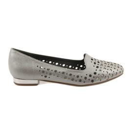 Daszyński Le eleganti scarpe openwork da donna di Lordsy 151 marrone