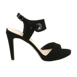 Sandali in pelle su spillo Edeo 3208 nero