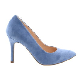 Décolleté su un paio di scarpe da donna Edeo 3313 blu