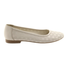 Ballerine da donna beige in pelle Angello 1780 marrone