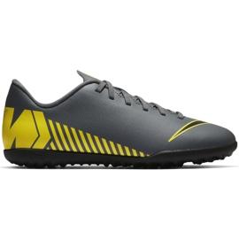 Scarpe da calcio Nike Mercurial Vapor X 12 Club Tf Jr AH7355-070 grigio