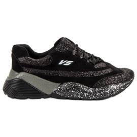 Scarpe sportive con broccato VICES nero