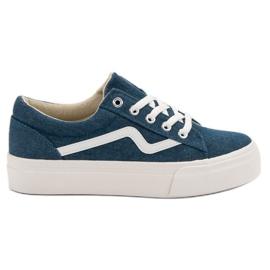 Kylie Sneakers alla moda per jeans blu