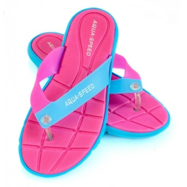 Pantofole Aqua-Speed Bali rosa-blu 03 479