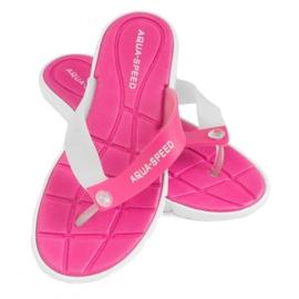 Pantofole Aqua-Speed Bali rosa e bianco 05 479