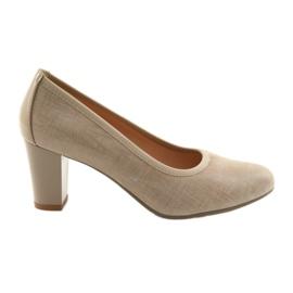 Scarpe da donna suola elastica Arka 5137 beige marrone
